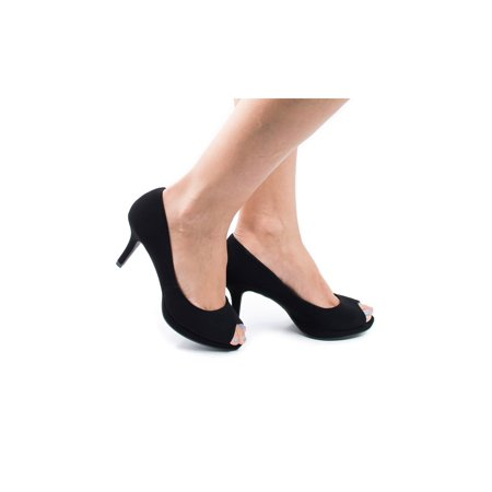 PTP- by Aquapillar, Classic High Heel Peep Toe Pump