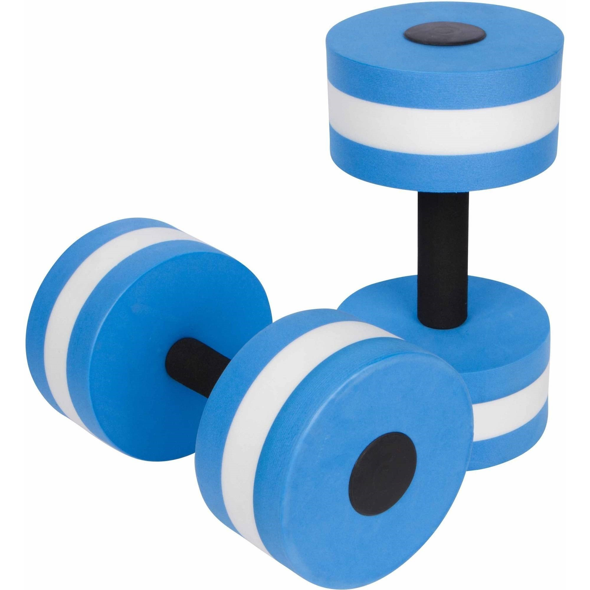 Trademark Innovations Aquatic Exercise Dumbbells for Water Aerobics, Blue