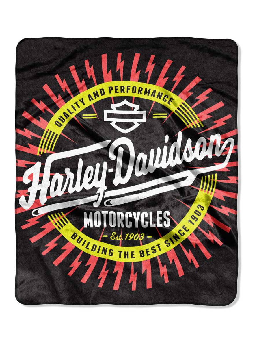 Harley-Davidson Lightning Ride Raschel Blanket