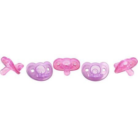 The First Years GumDrop Newborn Pacifier, 5pk, Pink/Purple