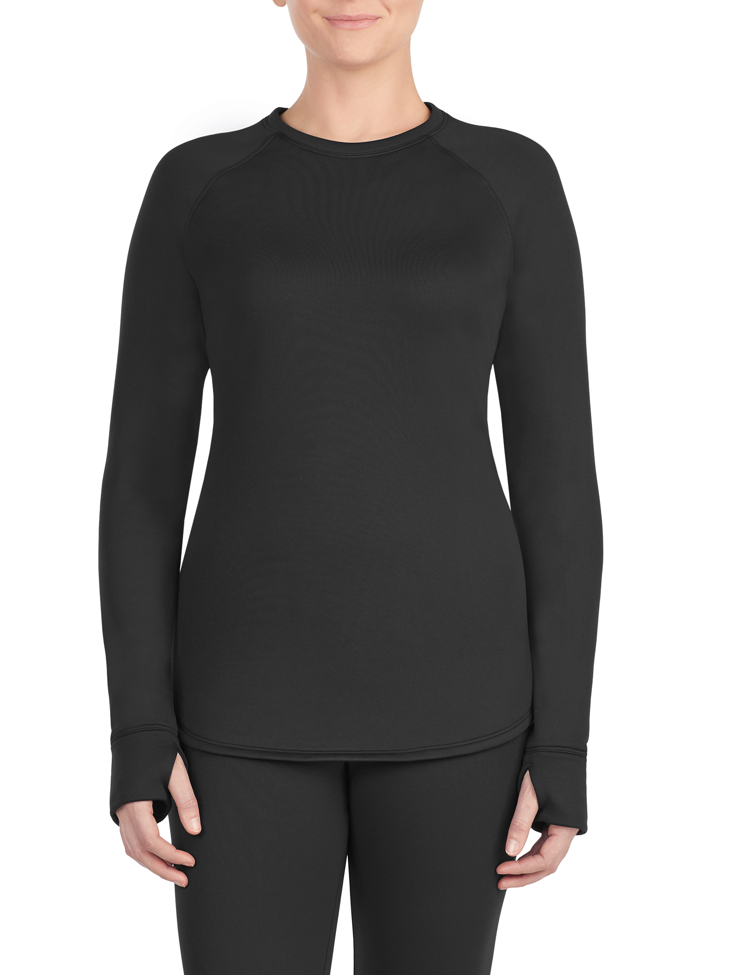 Women's thermal guard long underwear long sleeve crew neck top