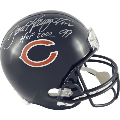NFL - Dan Hampton Autographed Helmet   Details: Chicago Bears, HOF2002 Inscription, Riddell Replica Helmet