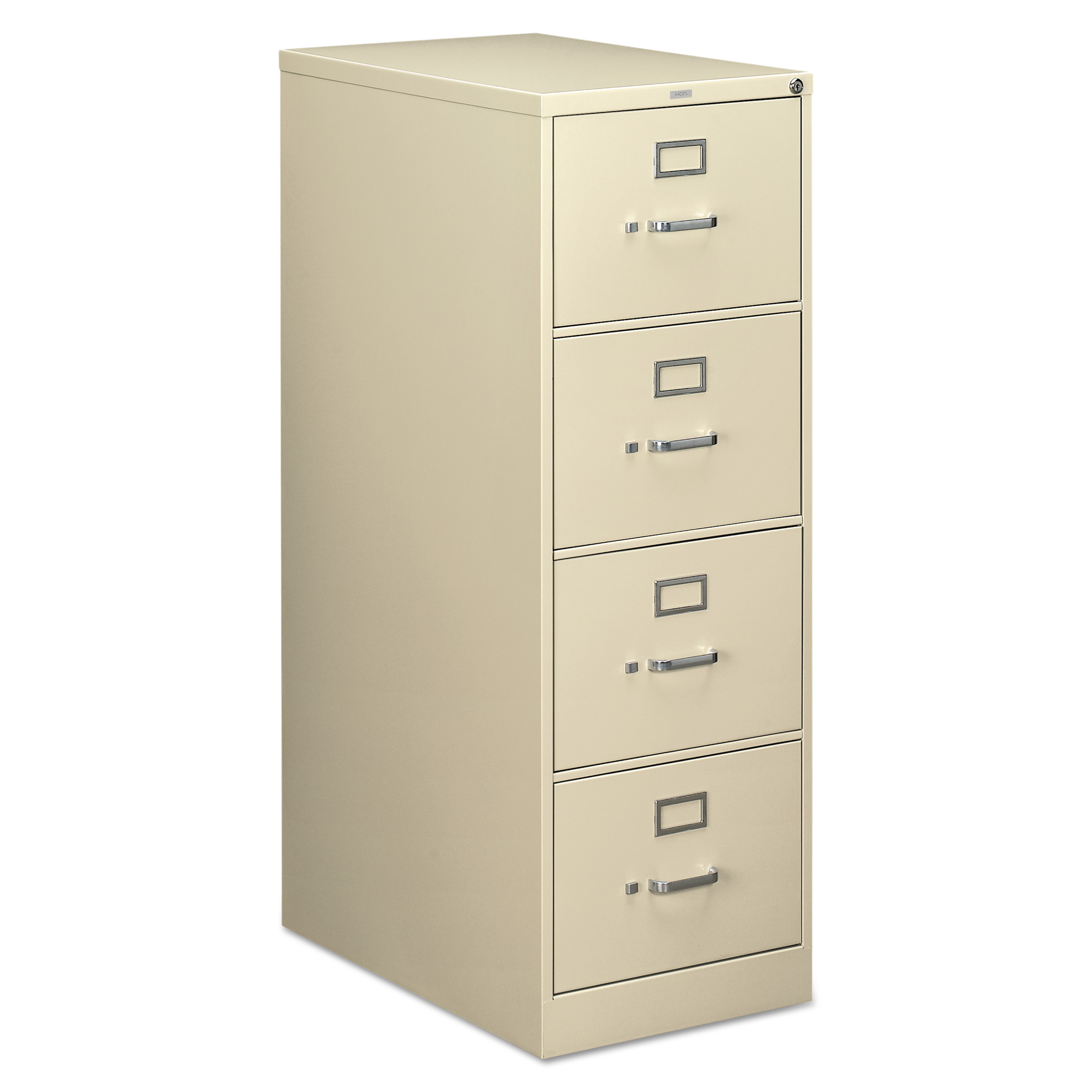 HON 210 Series Four-Drawer, Full-Suspension File, Legal, 28-1/2d, Putty
