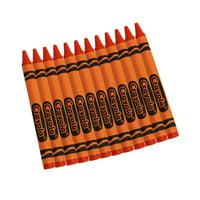 Crayola Bulk Crayons, Orange, Regular Size, 12 Per Box, Set Of 12 Boxes