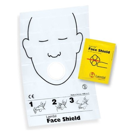 Laerdal Face Shield CPR Barriers - Box of 10 (Laerdal Face Shields)