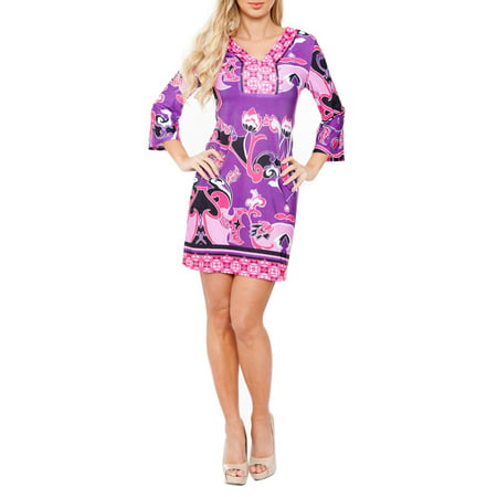 Women's Greek Flower Mini Dress - Greek Goddess Dress