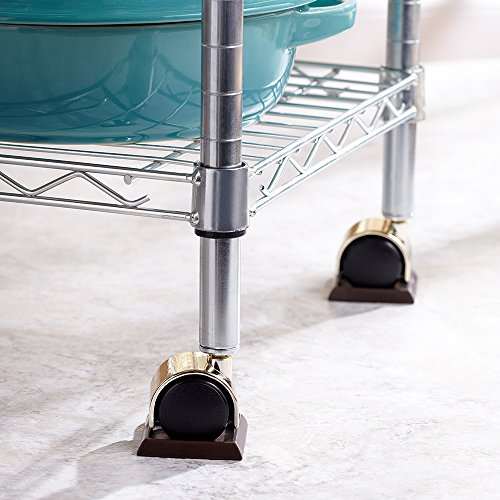 Furniture Caster Cups with Smooth Vinyl Bottom for Carpet or Durable Hard Floor
