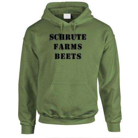 0e2ebbb9 SCHRUTE FARMS BEETS office funny dwight - Fleece PULLOVER Hoodie -  Walmart.com