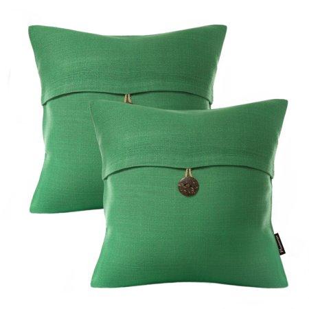 Set Of 2 Phantoscope Decorative Button Throw Pillow Cover