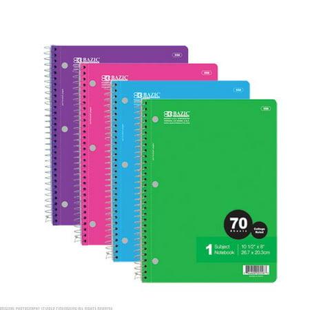 Bazic 1-Subject Spiral Notebook (Set of - Bulk Spiral Notebooks