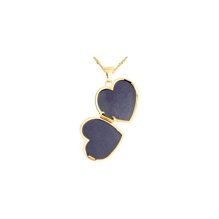 c08ac3ffff #1 MOM Heart Locket Pendant Necklace in 14K Yellow Gold with Chain - image  1 ...