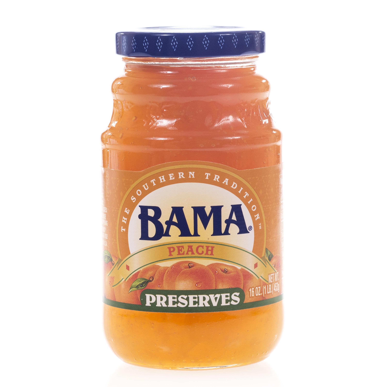 Bama Spreads Peach Preserves, 16 oz