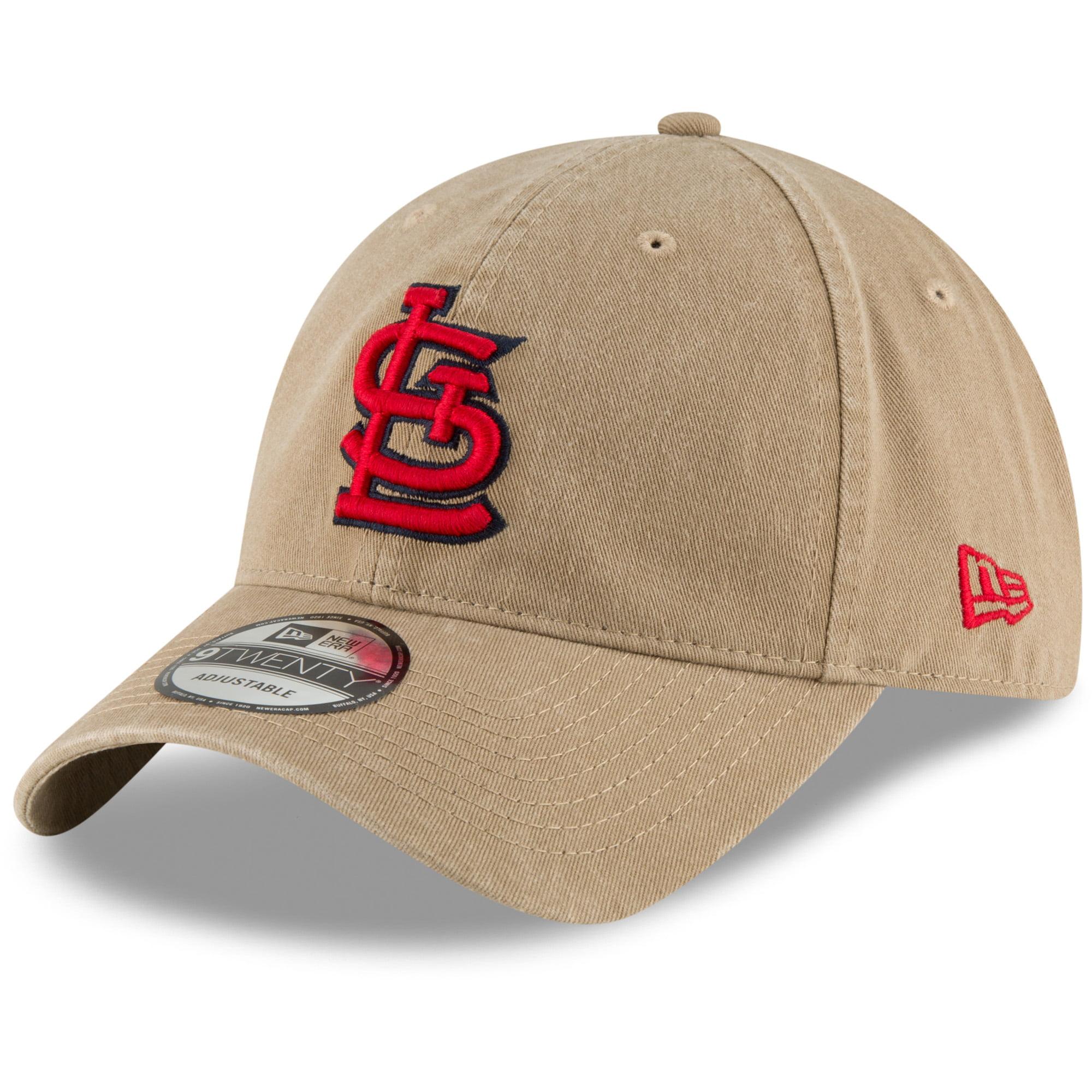 St. Louis Cardinals New Era Core Classic Secondary 9TWENTY Adjustable Hat - Khaki - OSFA