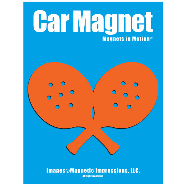 Paddle Tennis Player Car Magnet Chrome