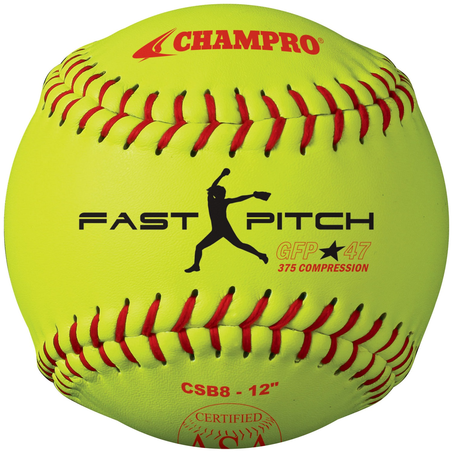 "Champro ASA 12"" Fast Pitch Softball Dozen"