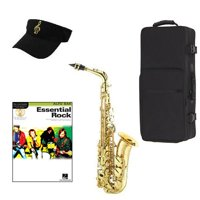 Essential Rock Alto Saxophone Pack - Includes Alto Sax w/Case & Accessories, Essential Rock Play Along Book