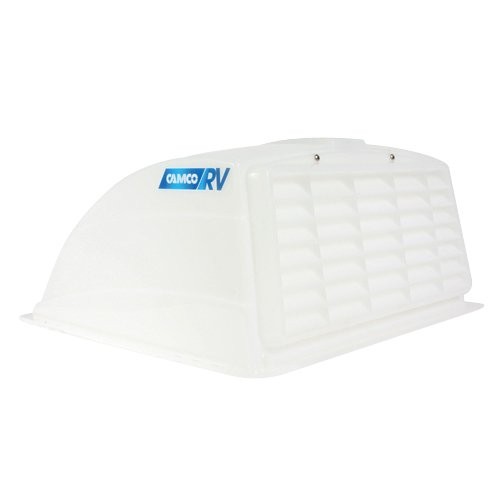 Camco RV Roof Vent Cover, Opens Easy Cleaning, Aerodynamic Design, Easily Mounts to RV Included Hardware (White) (40431)