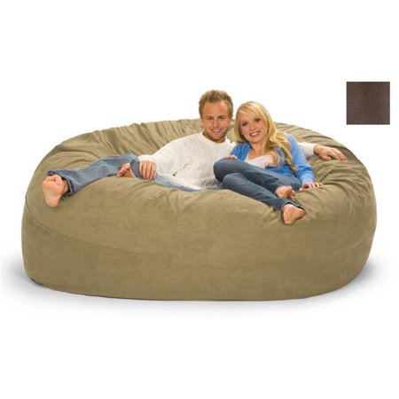 relaxsacks 7dm fl001 7 ft round relax sack faux leather brown