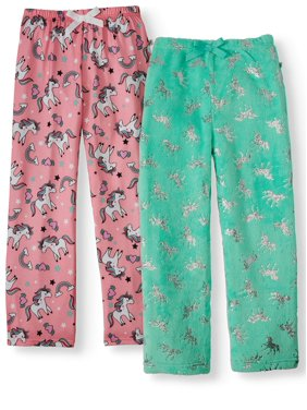 Dream Life Girls 2-Pack Fleece & Jersey Unicorn Pajama Pants (Little Girls & Big Girls)