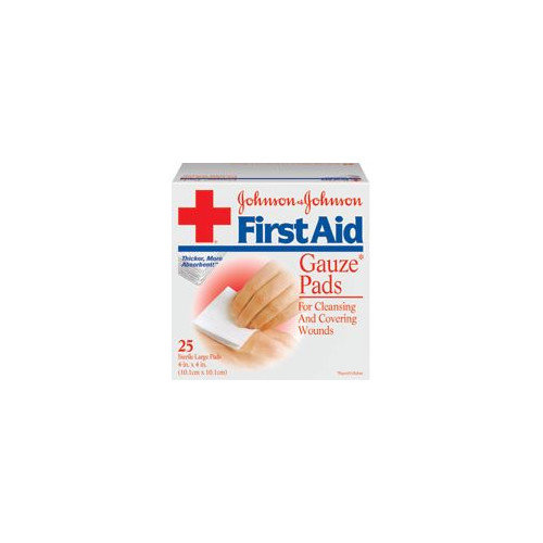 JOHNSON & JOHNSON                                  X 4'' RED CROSS  Sterile Gauze Pad (24 Per Box)