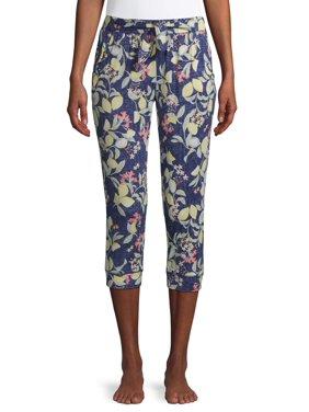 Roudelain Women's Distressed Wash Capri Pajama Pants