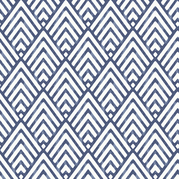 NuWallpaper Arrowhead Deep Blue Peel & Stick Wallpaper