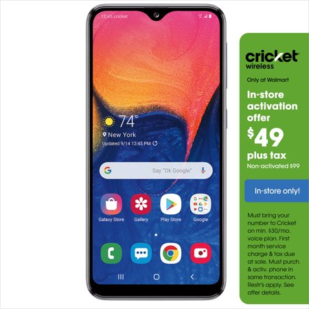 Cricket Wireless Samsung Galaxy A10e 32GB Prepaid Smartphone