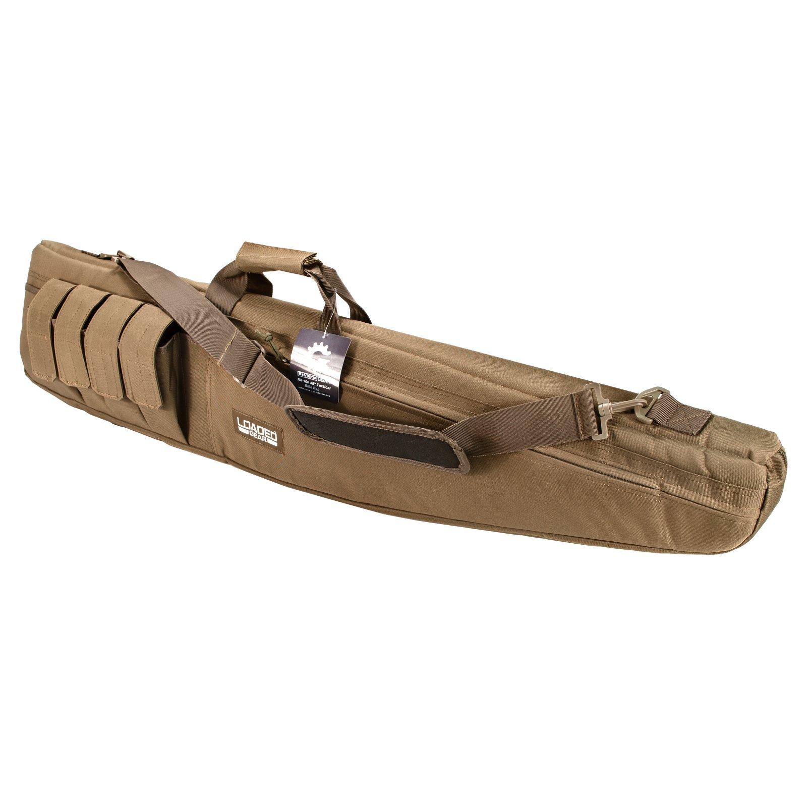 """Barska Optics Loaded Gear RX-100 48"""" Tactical Rifle Bag, Tan"""