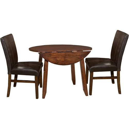 "Imagio Home by Intercon Kailua 42"" Drop-Leaf Dining Table, Distressed Raisin"