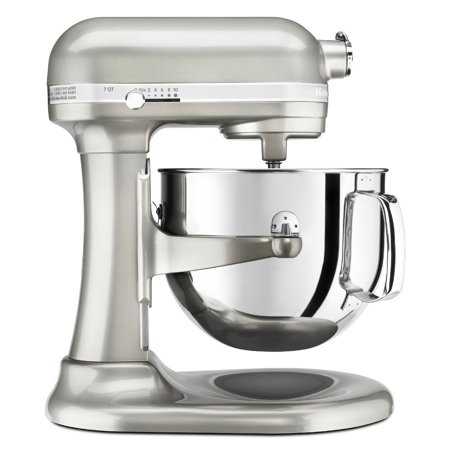 KitchenAid RKSM7581SR 7-Quart Pro Line Stand Mixer Sugar Pearl Silver (CERTIFIED REFURBISHED) ()