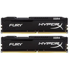 Kingston Memory HX426C15FBK2/16 16GB DDR4 2666 Unbuffered HyperX 2x8GB Fury Black Retail