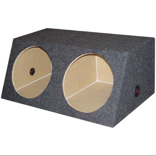 "Q-Power QSMBASS15 Dual 15"" Carpet Subwoofer Sub Box Sealed Speaker Enclosure"