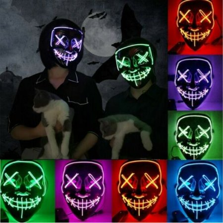 Halloween Masks Party Supplies (Clubbing Light Up