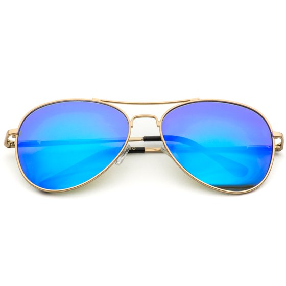 39f05ea73 This style is suitable for men and women of all ages! WearMe Pro - Classic  Mirror Lenses Aviator Sunglasses w/Flex Hinges
