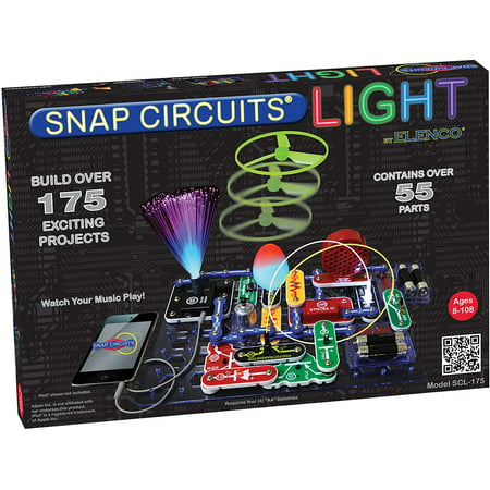 Snap Circuit Light (Snap Circuits LIGHT Electronics Exploration Kit | Over 175 Exciting STEM Projects | Full Color Project Manual | 55+ Snap Circuits Parts | STEM Educational Toys for Kids)