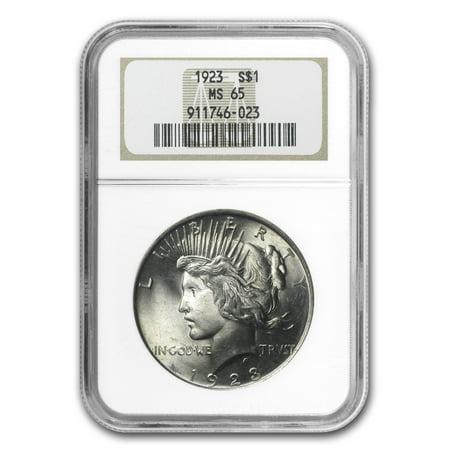 1923 Peace Dollar MS-65 NGC