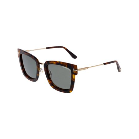 7b34c54f4ea Tom Ford - Tom Ford Women s Lara FT0573-55A-52 Brown Square Sunglasses -  Walmart.com