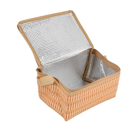 Waterproof And Thermal Insulation Rattan Woven Lunch Bag - image 1 of 5