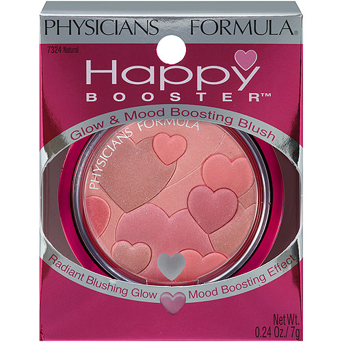 Physicians Formula Happy Booster Glow & Mood Boosting Blush, 7324 Natural, 0.24 oz