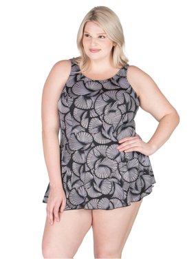 Women's Plus-Size Swimdress - Fan-Tastic