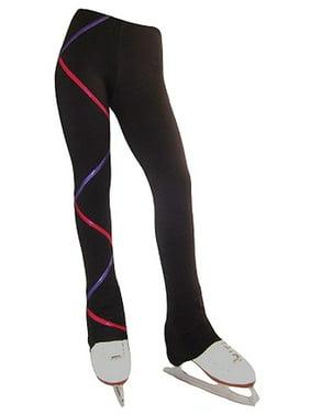 Ice Fire Skate Wear Black Purple Fuchsia Criss Cross Pants Girl 4-20