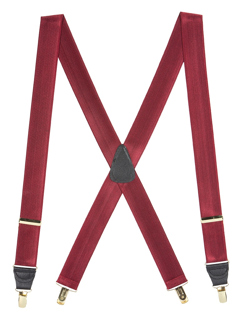 3 Sizes, 6 Colors French Satin Dressy Clip-End Suspenders