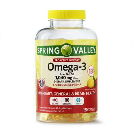 (2 pack) Spring Valley Proactive Health Omega-3 from Fish Oil Softgels, 1040 Mg, 120 (Gnc Fish Oil)