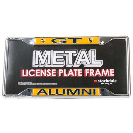 Georgia Tech Yellow Jackets Alumni Metal License Plate Frame W/domed Insert Georgia Tech Yellow Jackets Framed