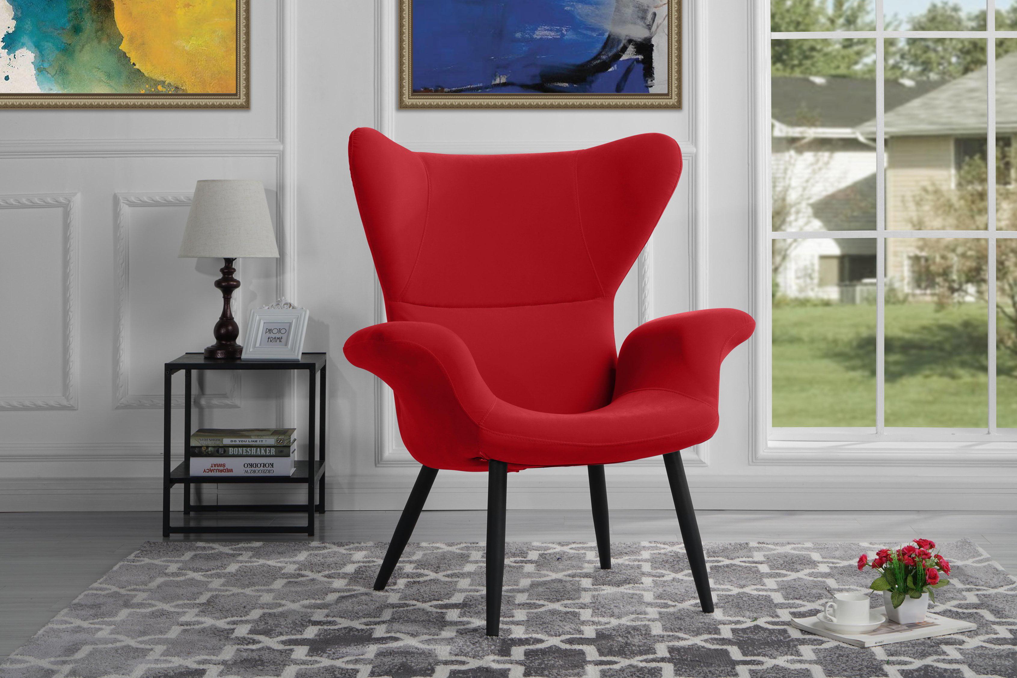 contemporary velvet accent armchair futuristic style