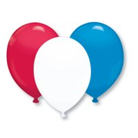 "17"" Latex Balloons - Red/White/Blue Assortment - Pack of 72"