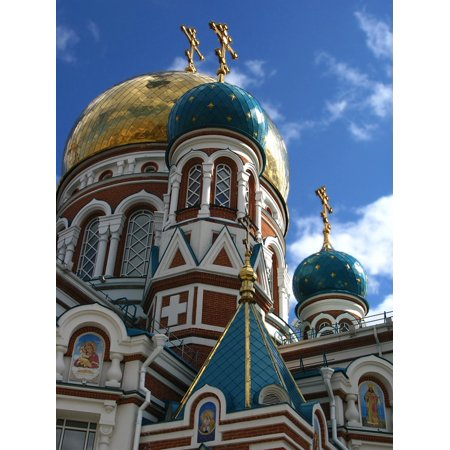 LAMINATED POSTER Towers Omsk Old Building Cathedral Church Russia Poster Print 24 x 36