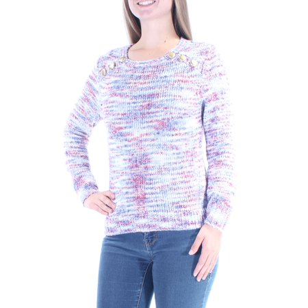KENSIE Womens Blue Long Sleeve Jewel Neck Sweater  Size: S Indigo Long Sleeve Sweater