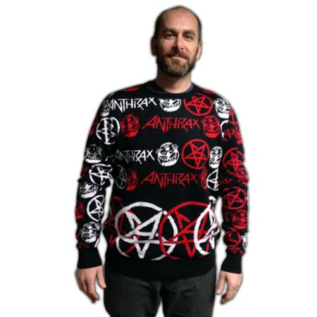 Anthrax Adult Christmas Sweater