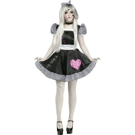 Broken Doll Adult Halloween Costume](Living Dead Dolls Halloween Costumes Uk)